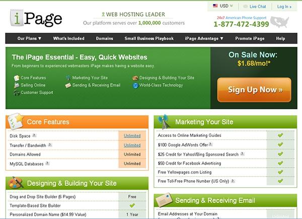 iPage Review | Top 5 Website Builders | Websitebuilder.net